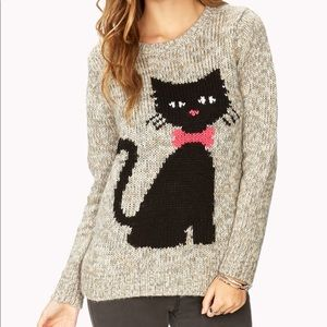 Kitty Cat Cozy Sweater, size Small